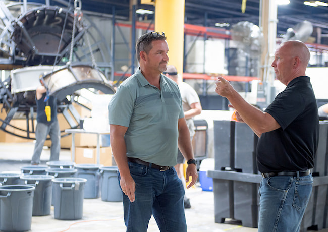 Mike Deputy and Todd Outman of Michiana Rotational Molding